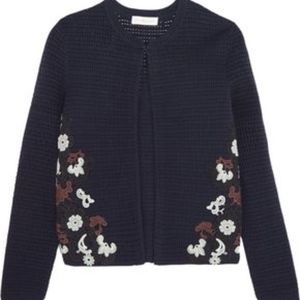 NWT Tory Burch Navy Cardigan Sweater - Medium